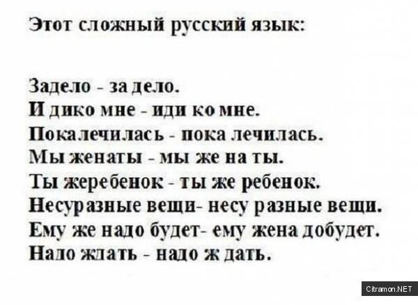 Этот сложный русский язык!