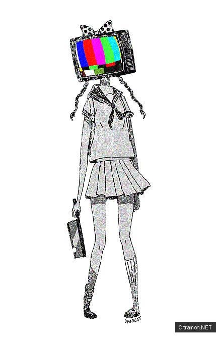 Тевочка с головой-телевизором